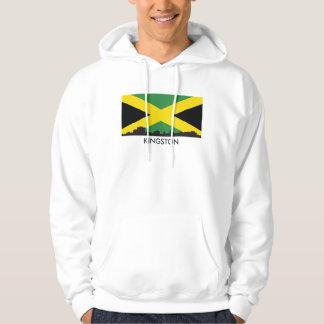 Sudadera Bandera jamaicana del horizonte de Kingston