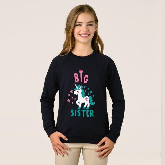 Sudadera big sister unicorn eyelashes