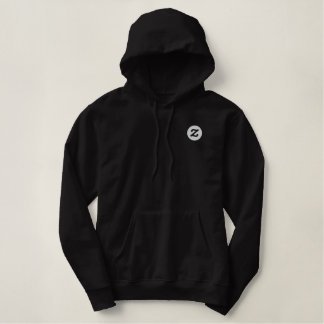 "Sudadera Bordada Con Capucha Logotipo de Zazzle - 2"" CircleZ"