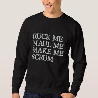 Sudadera Bordada Ruck me maul me me hacen humor del rugbi del melé
