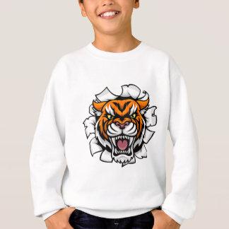 Sudadera Brecha enojada del fondo del tigre