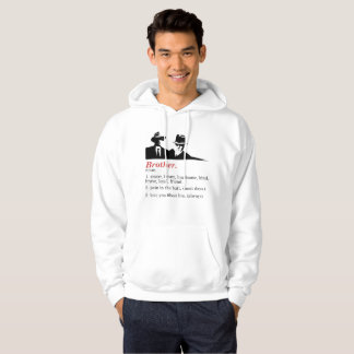 Sudadera Brother blanco hermoso, elegante, divertido,