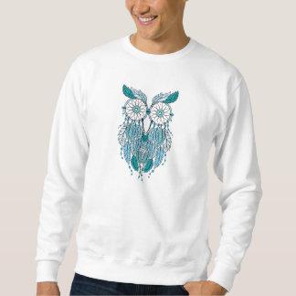 Sudadera búho azul del dreamcatcher