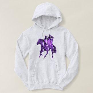 Sudadera Caballo con alas Pegaso púrpura del tema de la