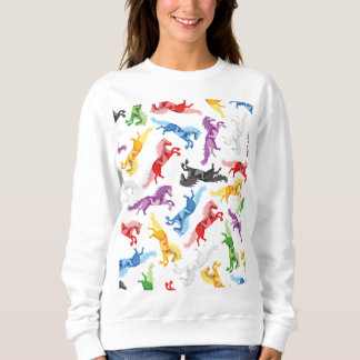 Sudadera Caballos de salto coloreados del modelo