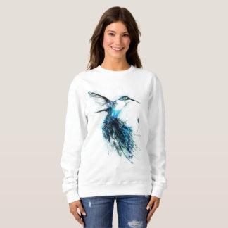 Sudadera Colibrí de la acuarela, pájaro de la pluma,