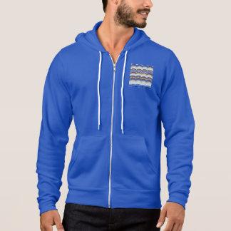 Sudadera con capucha azul de la Lleno-Cremallera