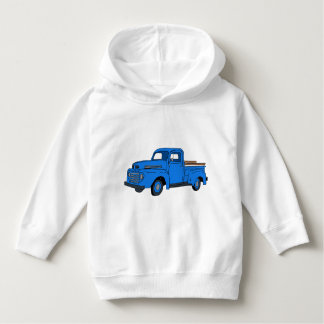 Sudadera con capucha azul del camión del vintage