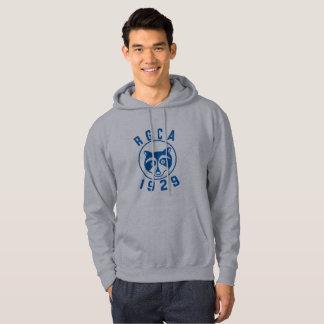 Sudadera con capucha azul del logotipo de RGCA