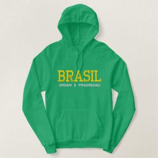 Sudadera con capucha bordada del BRASIL (el