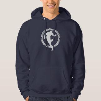 Sudadera con capucha de los azules marinos de