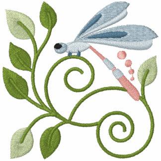 Sudadera con capucha del jardín de la libélula