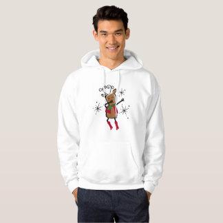 Sudadera con capucha del reno del Vixen que frota