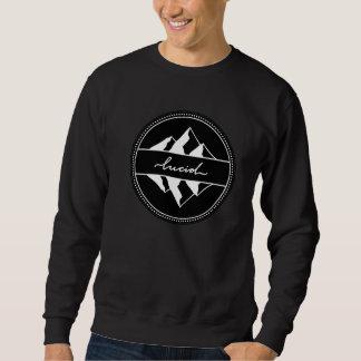 Sudadera con capucha lúcida de la montaña
