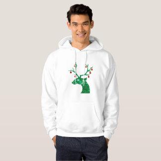 sudadera con capucha para hombre del reno del