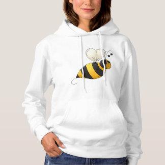 Sudadera con capucha para mujer de la abeja
