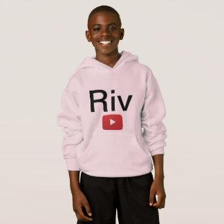 Sudadera con capucha rosada de Riv