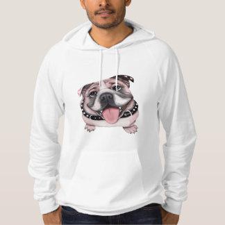 Sudadera con capucha rosada del dogo