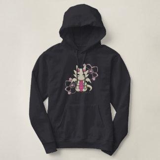 Sudadera con capucha rosada del dragón de Kawaii