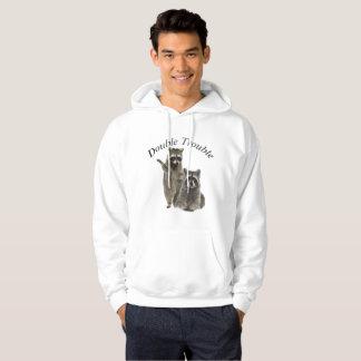 Sudadera con capucha y camisetas dobles del