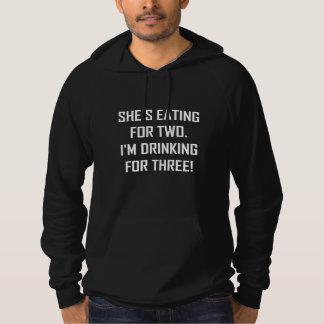 Sudadera Consumición para dos que beben para tres