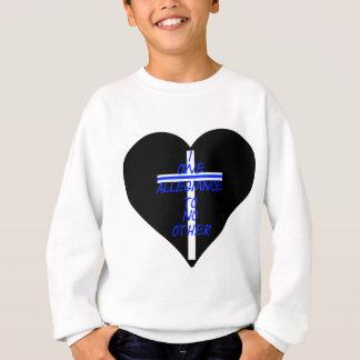 Sudadera Corazón negro de IOATNO con Blue Line cruzado y