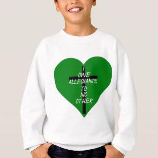 Sudadera Corazón verde y cruz de IOATNO