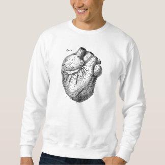 Sudadera Corazones cardiacos retros de la anatomía del