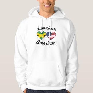 Sudadera Corazones jamaicanos de la bandera americana