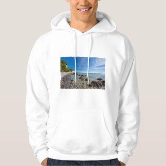 Sudadera Costa de mar Báltico en la isla Ruegen
