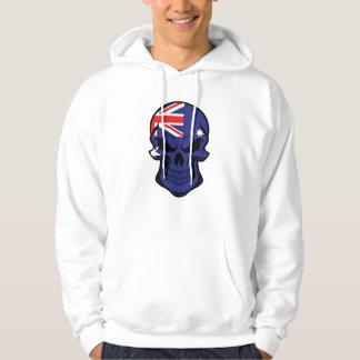 Sudadera Cráneo australiano de la bandera