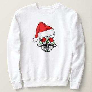 Sudadera Cráneo divertido del azúcar del navidad