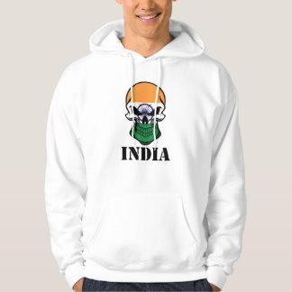 Sudadera Cráneo indio la India de la bandera