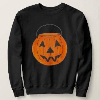 Sudadera Cubo anaranjado Halloween de la calabaza de la