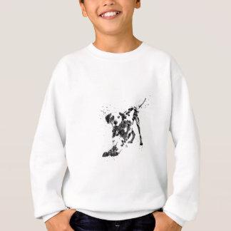 Sudadera Dalmatian, perro dálmata, Dalmatian de la acuarela
