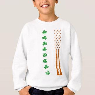 Sudadera día de Patricks de la bandera americana de los