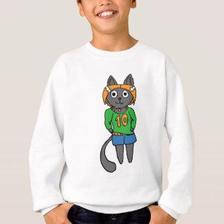 Sudadera Dibujo animado lindo del gato de moda