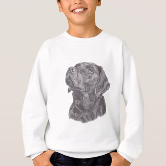 Sudadera Dibujo clásico del perfil del perro del labrador