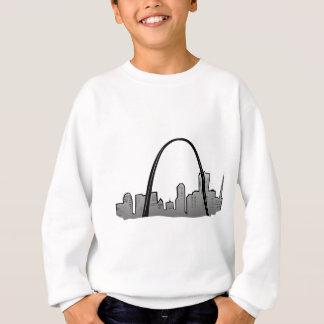 Sudadera Dibujo del horizonte de St. Louis
