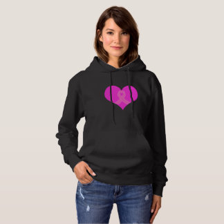 Sudadera Diseño de la caridad del cáncer del corazón y de