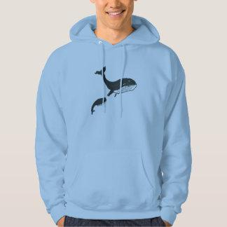 Sudadera Doodle de la familia de las ballenas