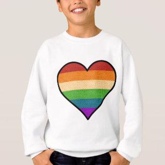 Sudadera El amor de LGBT es corazón del arco iris del amor