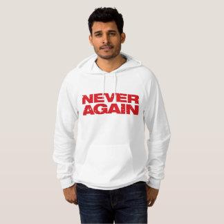 """Sudadera El blanco """"nunca otra vez"""" camiseta/logotipo rojo"""