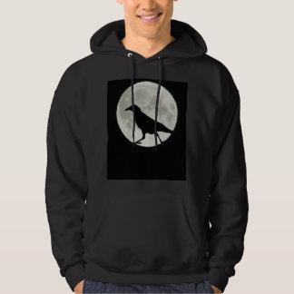 Sudadera El cuervo camina por claro de luna