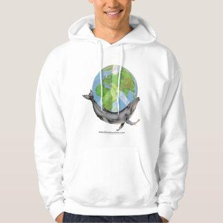 Sudadera El diseño de la paz de la ballena jorobada
