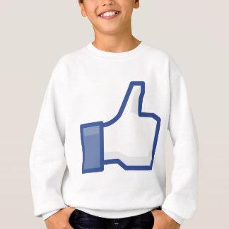 Sudadera ¡el facebook TIENE GUSTO de mí de manosear con los
