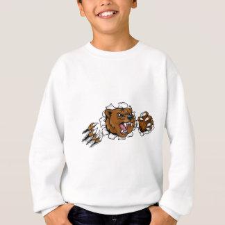 Sudadera El fondo enojado de la mascota del oso agarra