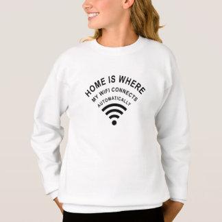 Sudadera El hogar es donde mi wifi conecta automáticamente