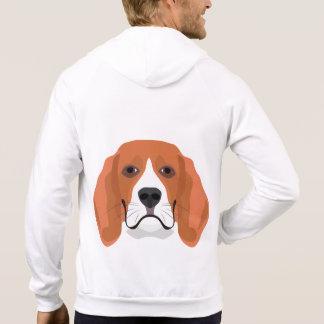 Sudadera El ilustracion persigue el beagle de la cara