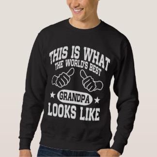 Sudadera El mejor abuelo del mundo mira gusto